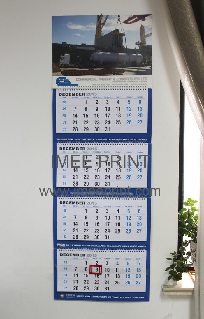 Multi-Months Wall Scroll Calendar